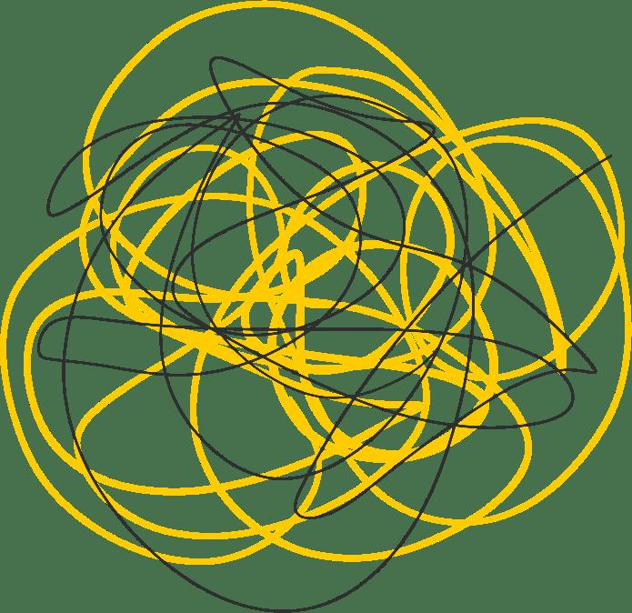 Analyse Wie AM SCHNÜRCHEN gelbe und graue Linien durcheinander