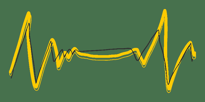 gelber Herzschlag von Wie am Schnürchen in der Kommunikationsberatung